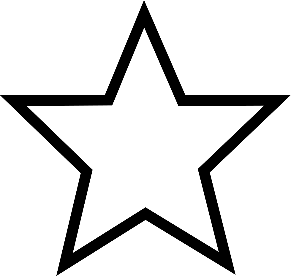 Five pointed star computer. Clipart bread triangle