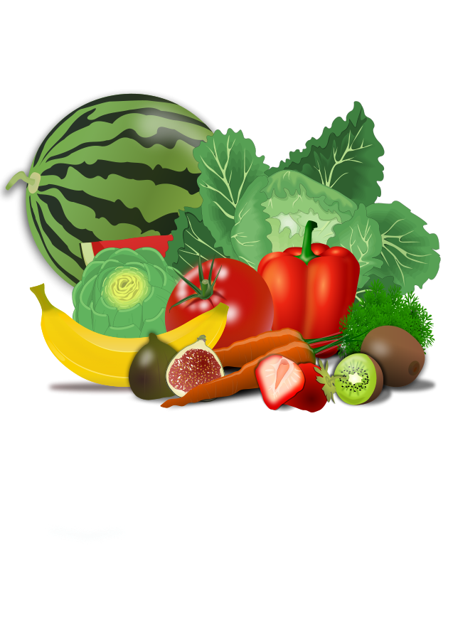 Free images of fruits. Clipart vegetables shelf