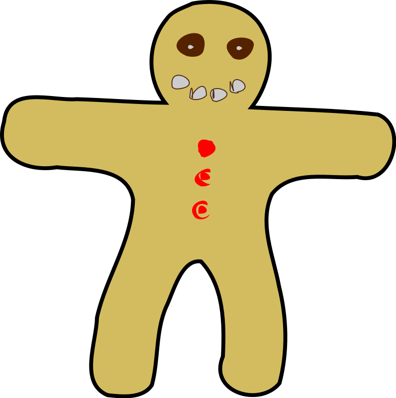 Clipart bread vector. Gingerbread man free clip