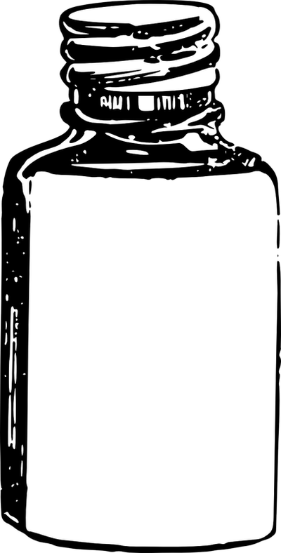 perfume clipart black and white