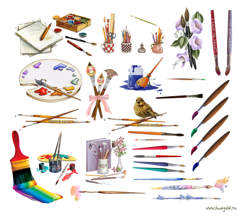 Painter clipart painter tool. Watercolor painting drawing clip