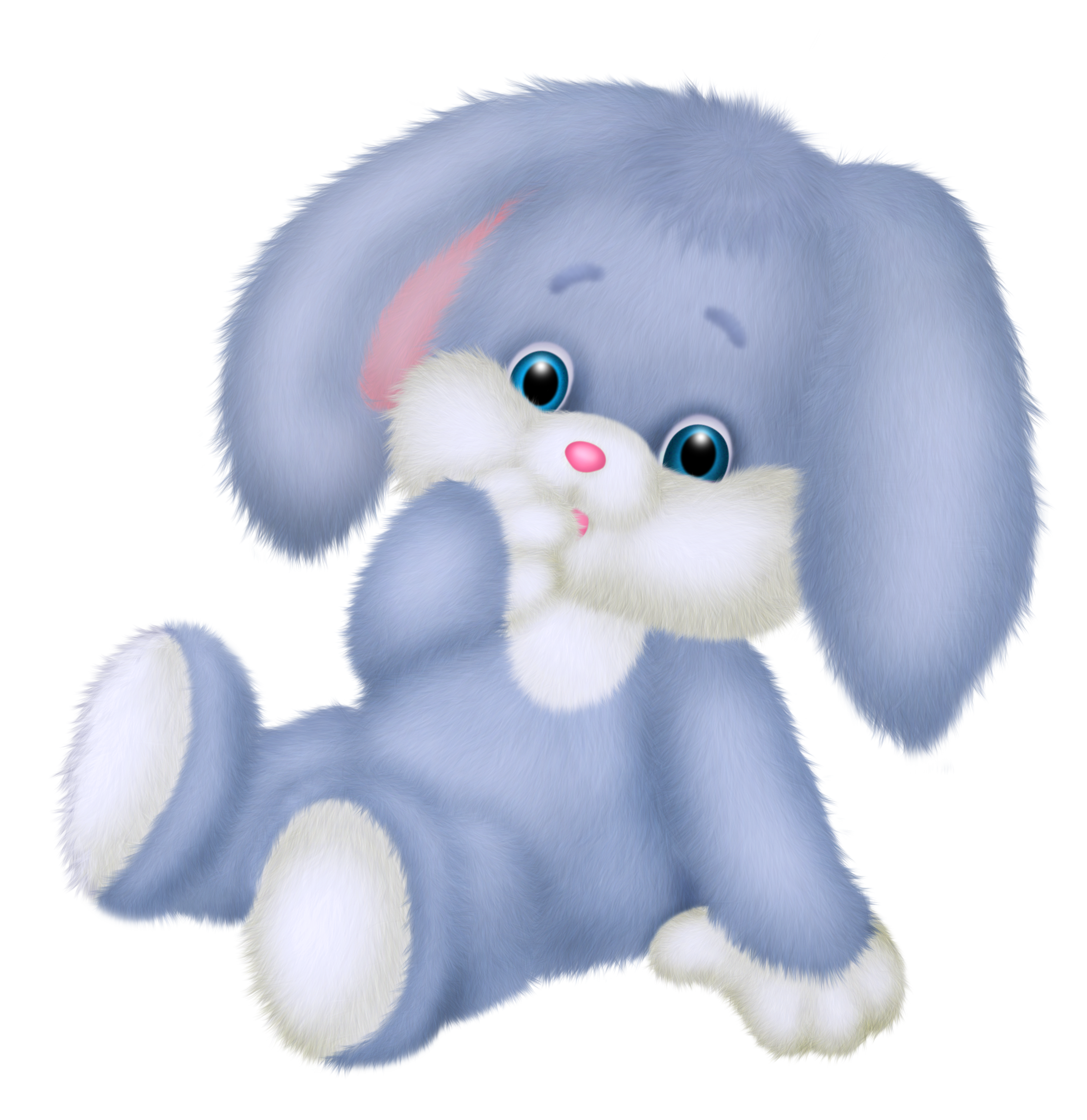 collection of cute. Clipart rabbit blue