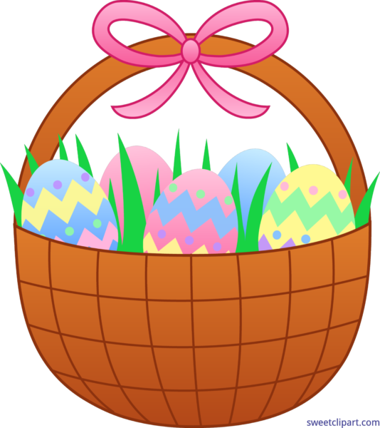 Easter archives sweet clip. Clipart bunny basket