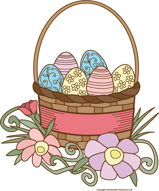 Clipart bunny basket. Easter drawing at getdrawings