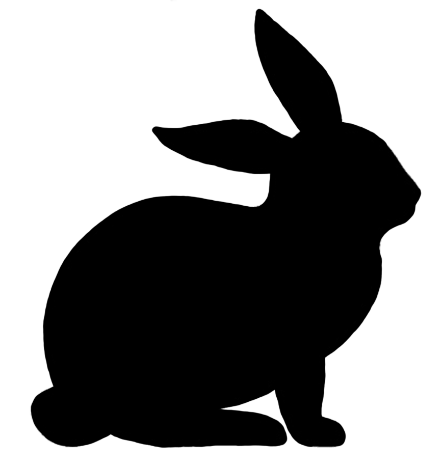 Rabbit silhouette siluetter pinterest. Clipart bunny body