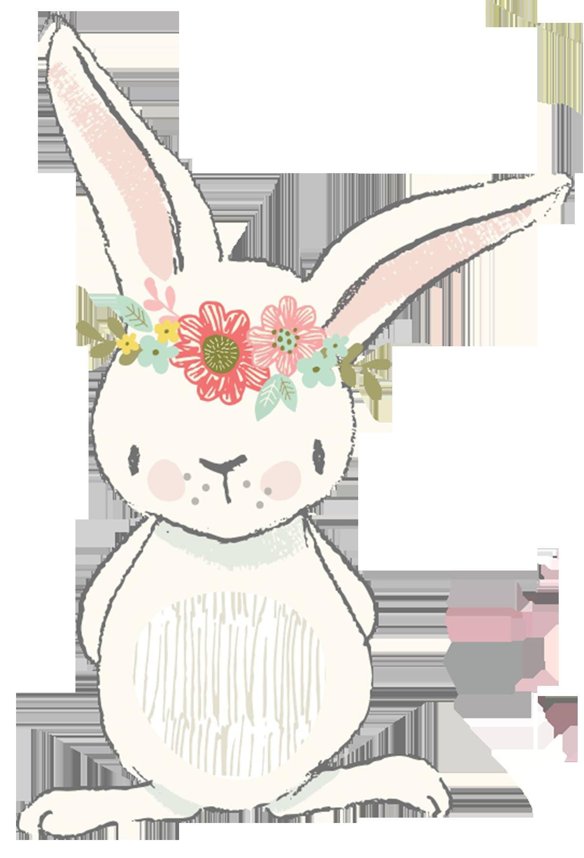 Clipart bunny boho. Sweet illustration easter pinterest