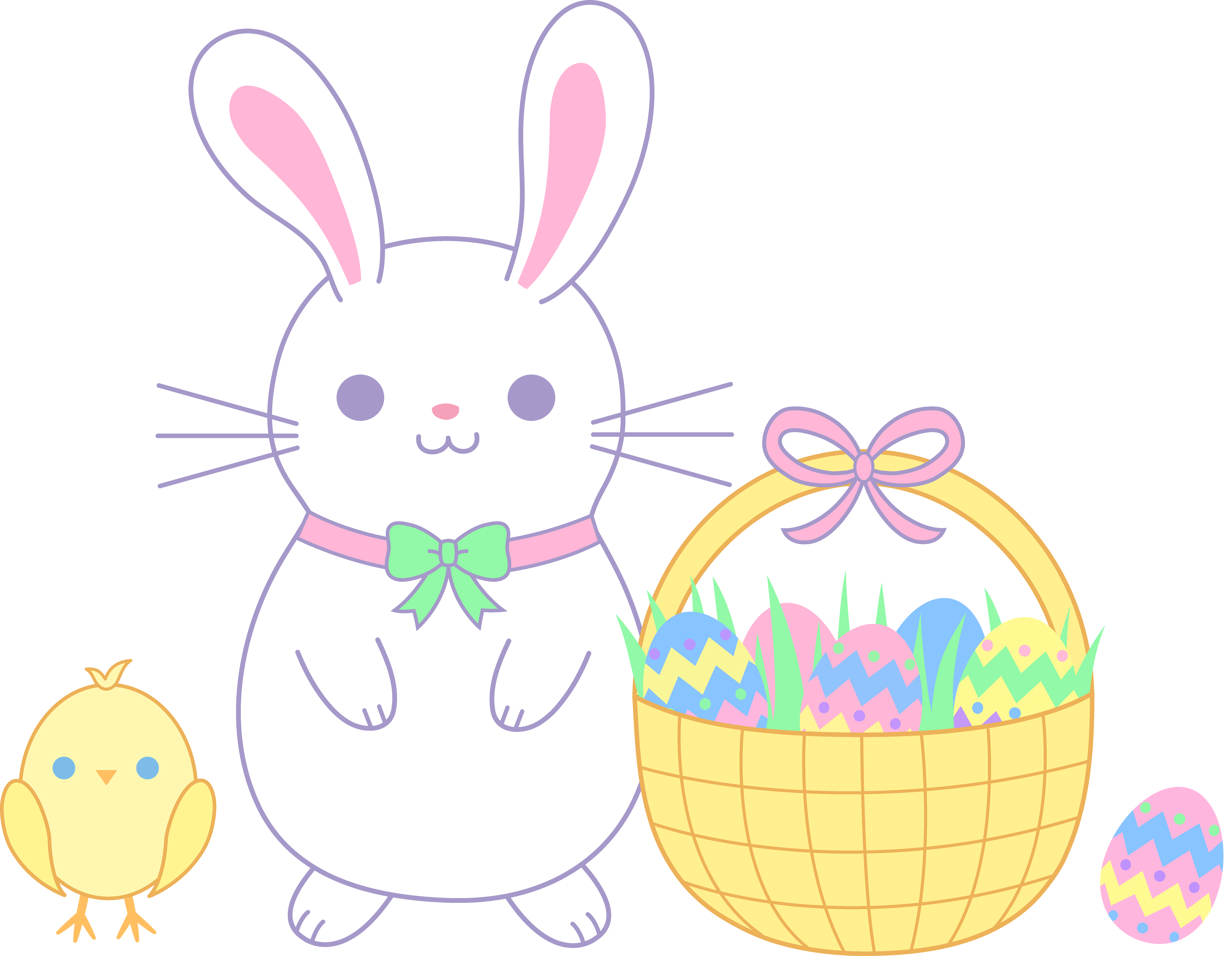 Clipart bunny boho. Bunnies basket frames illustrations
