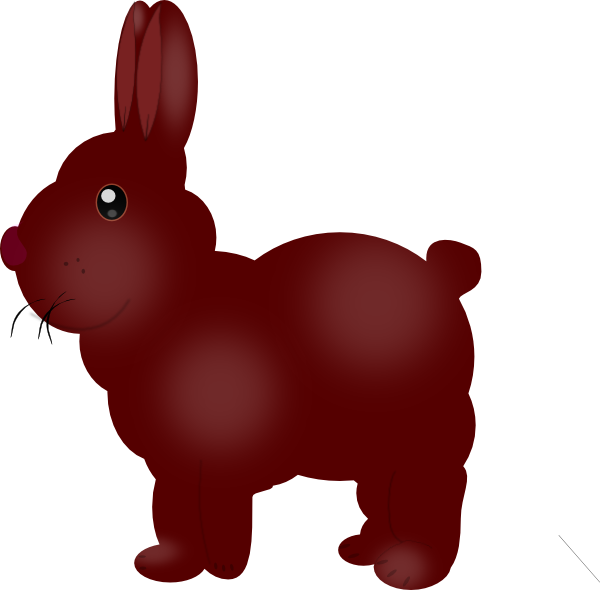 Pawprint clipart easter bunny. Chocolate clip art at