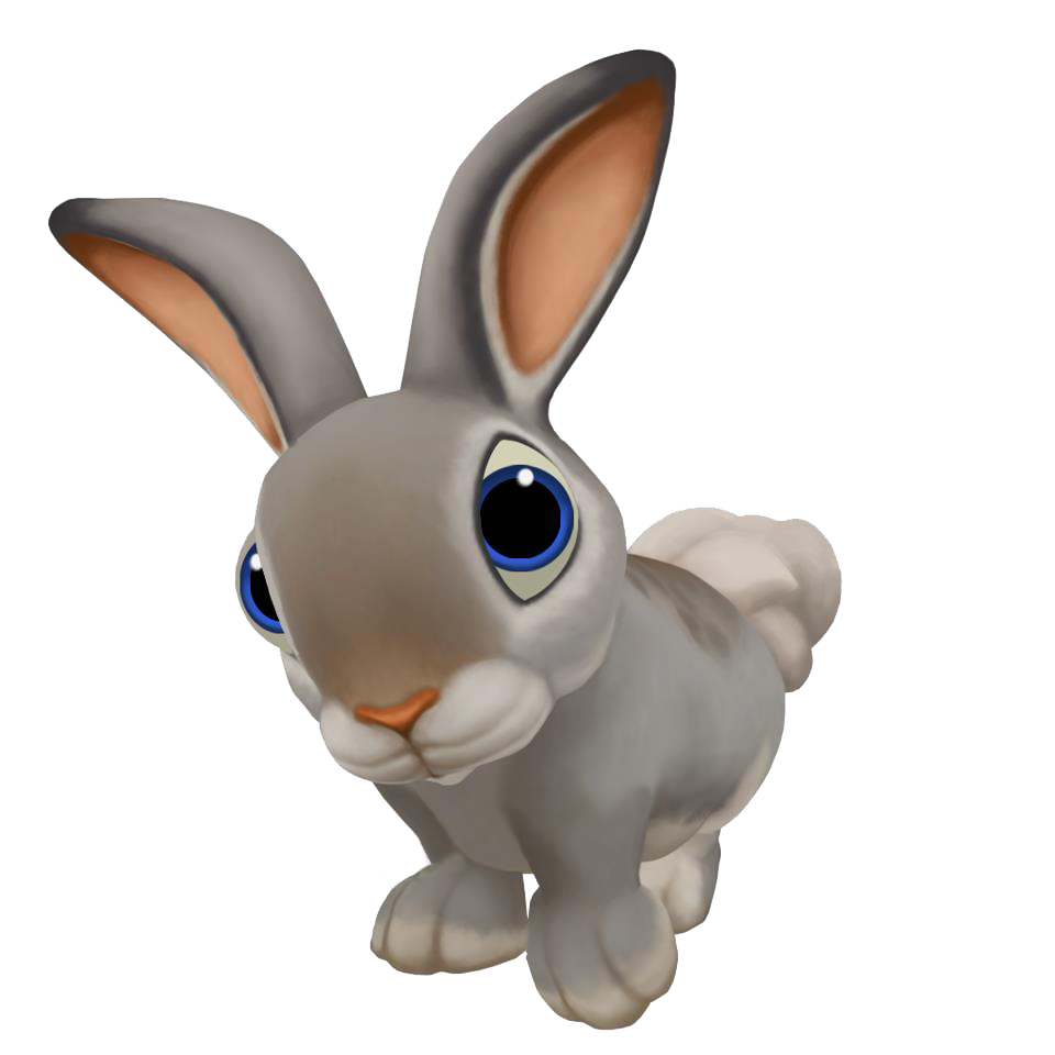 Image gray cotton tail. Clipart bunny cottontail rabbit