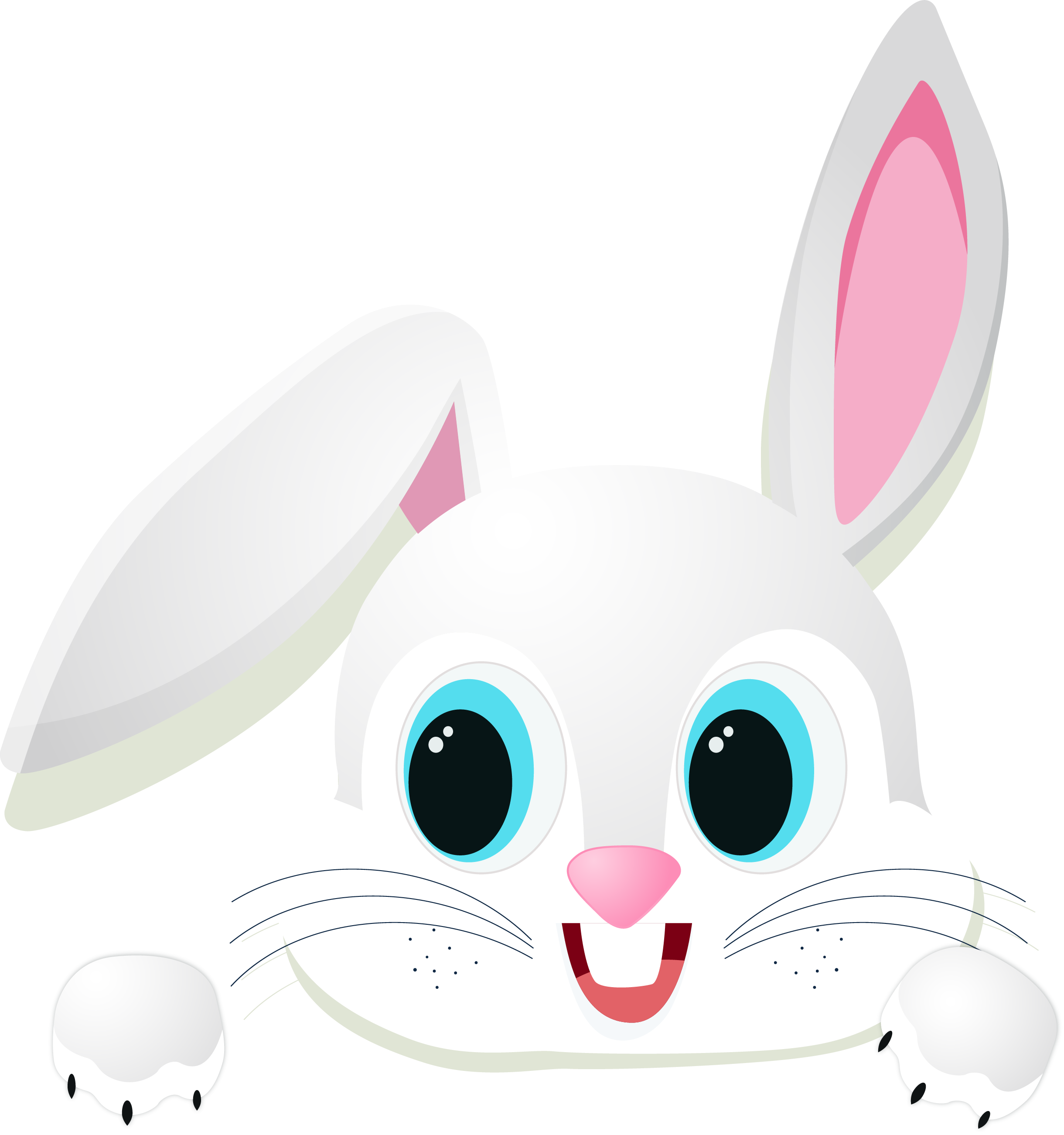 Domestic rabbit easter chinese. Clipart bunny couple