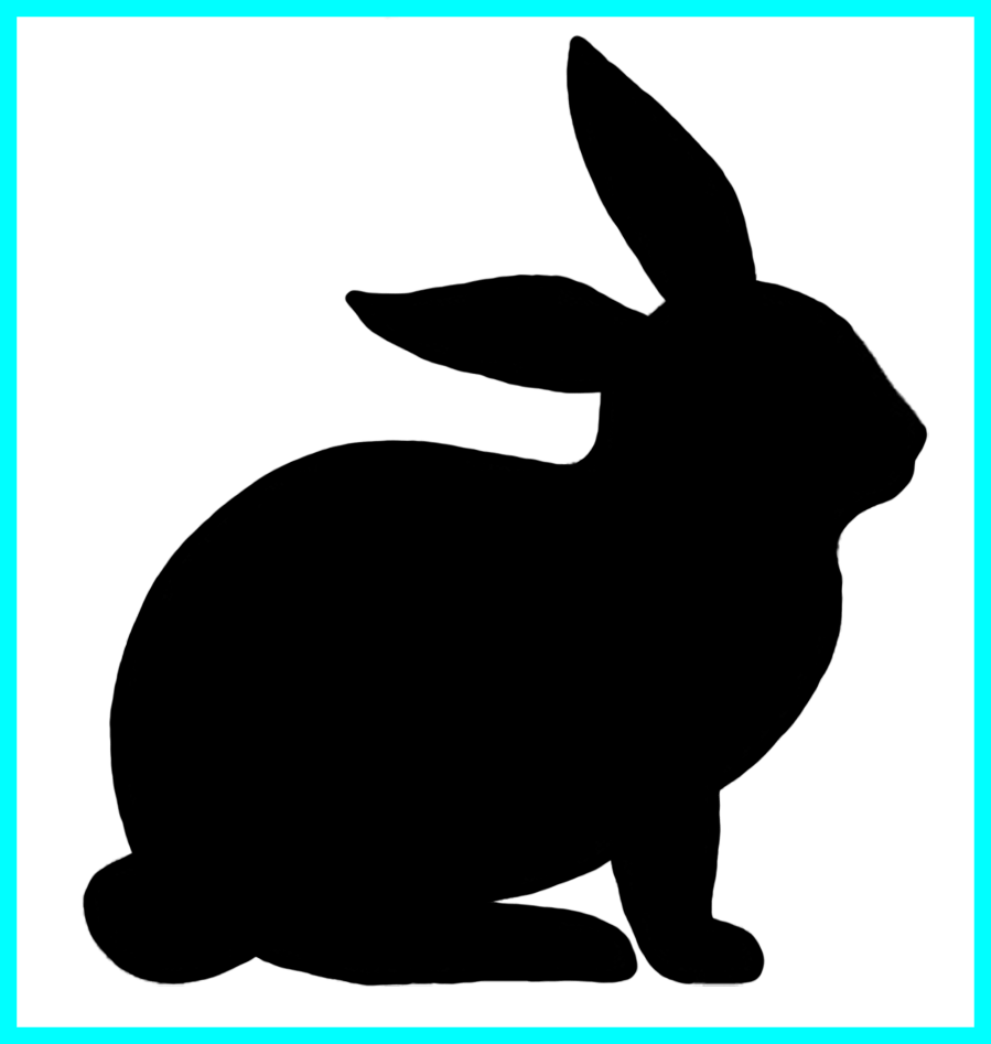 Fascinating rabbit silhouette gifts. Clipart bunny couple