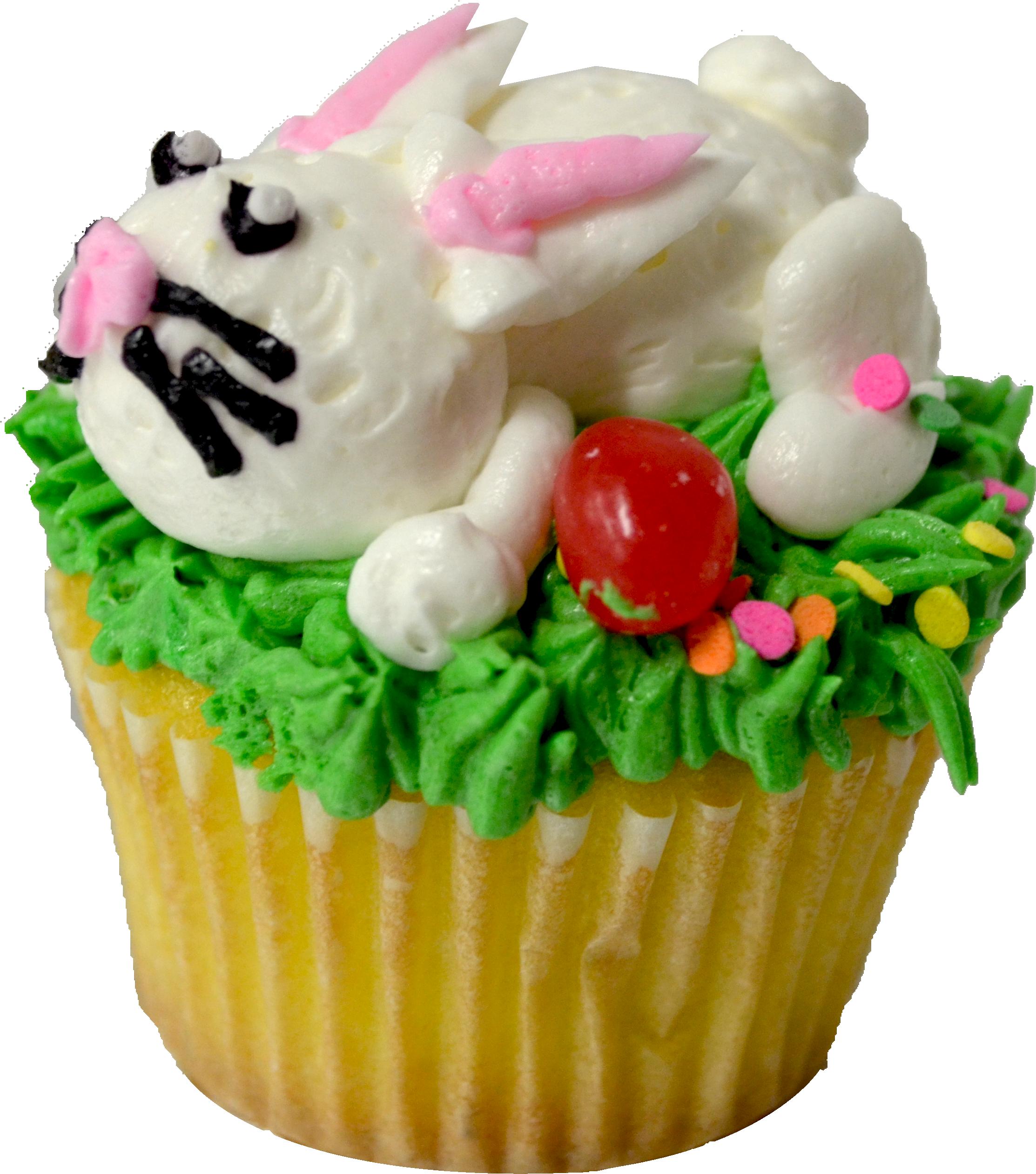 easter cupcakes abc. Clipart bunny cupcake