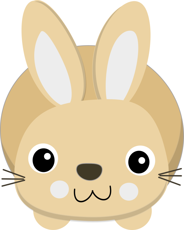 Cute bunny medium image. Clipart rabbit pretty