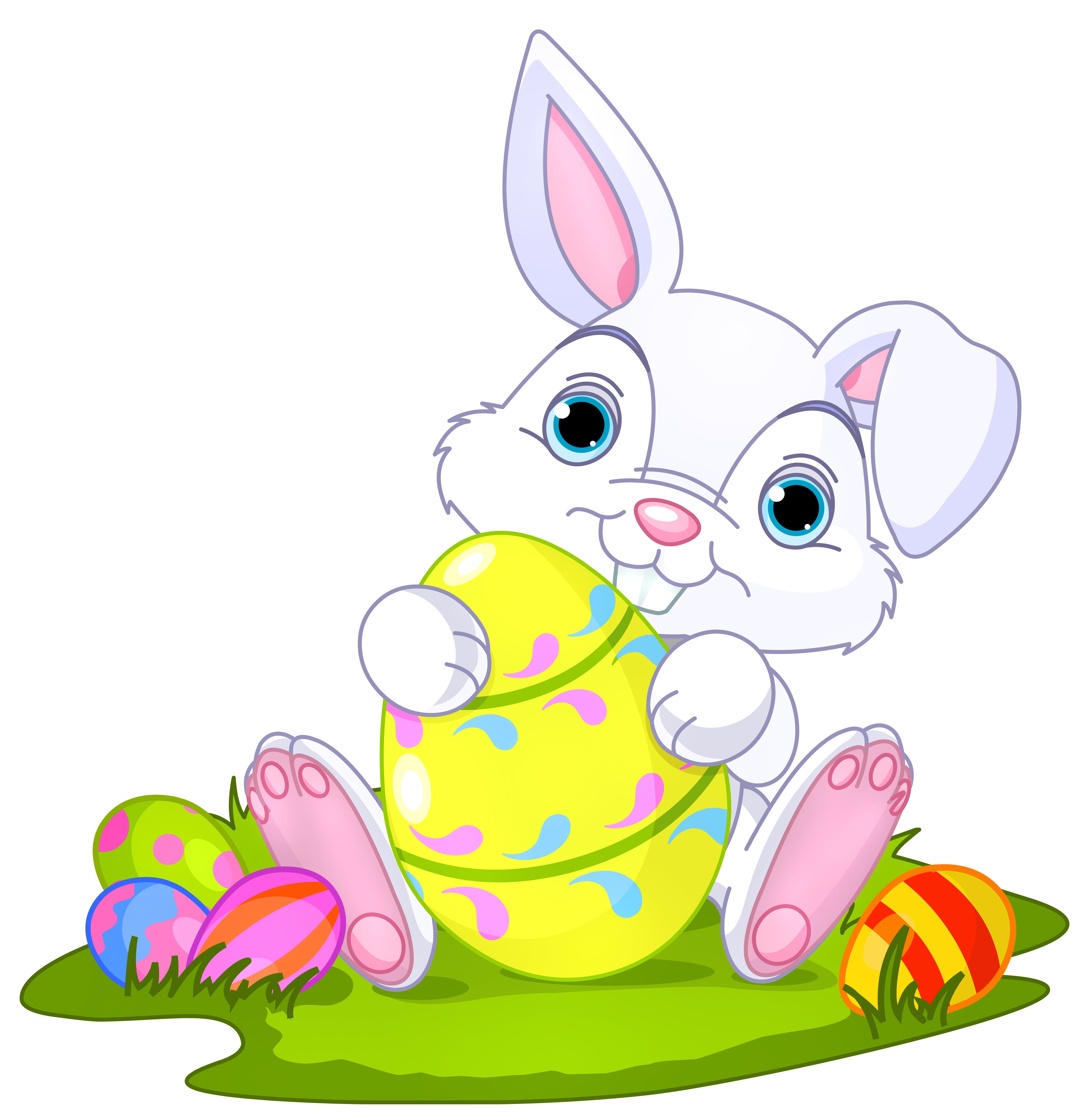 Easter with decor png. Eggs clipart bunny