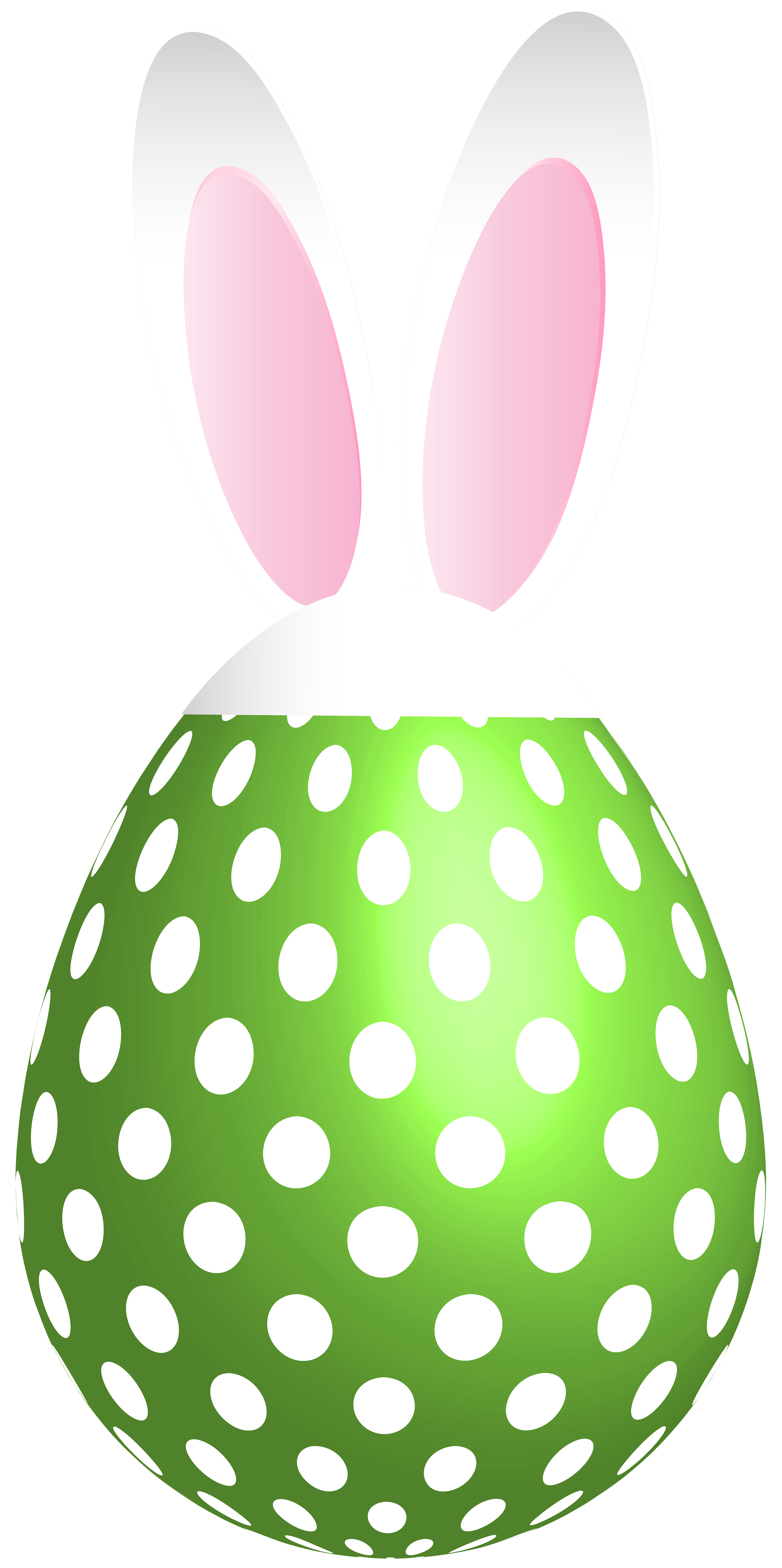 Dotted green transparent png. Clipart bunny easter egg