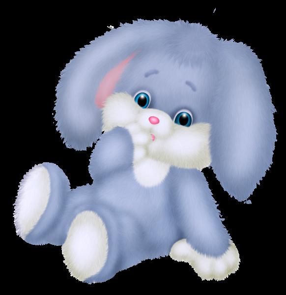 Clipart elephant bunny. Coelho azul bonito png