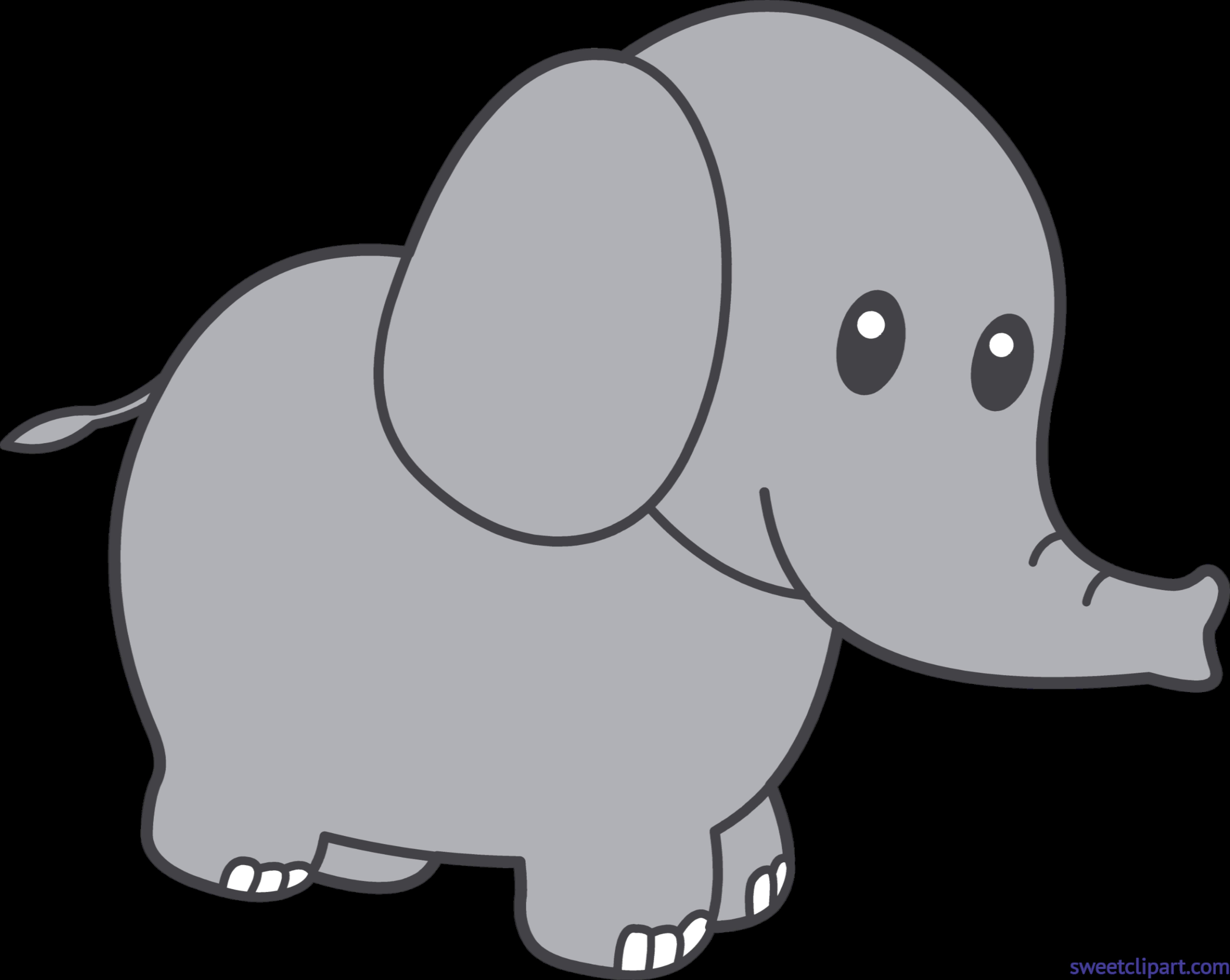 Clipart easter elephant. Gray clip art sweet