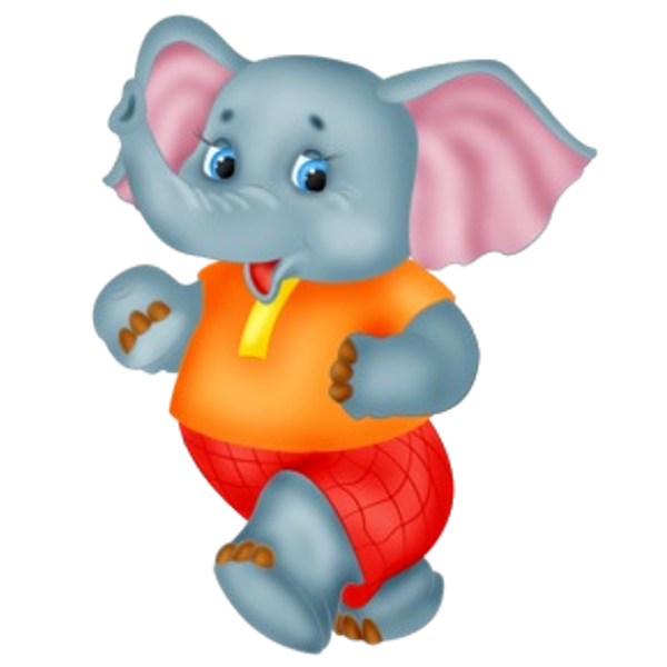Cute baby elephant cartoon. Poppy clipart clear background