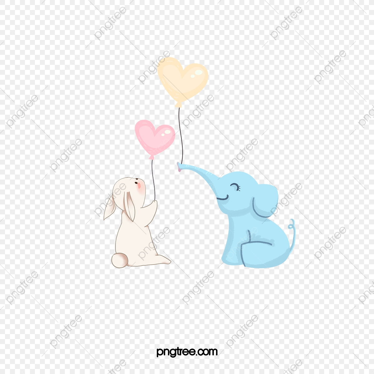 Small and . Clipart elephant bunny