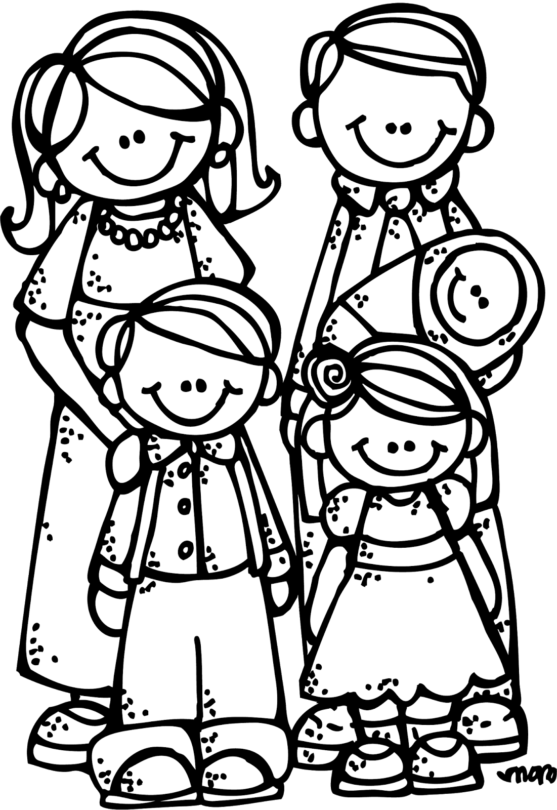 Grandparent clipart coloring. Melonheadz lds illustrating new