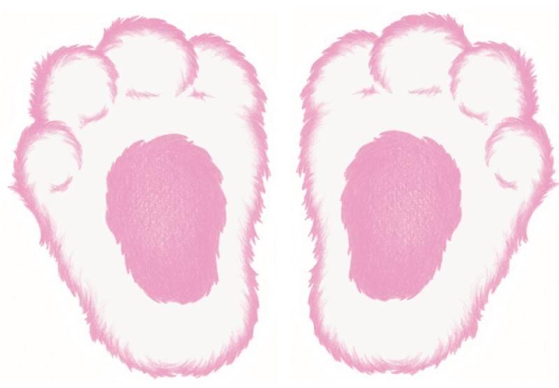 Clipart bunny foot. Free footprints cliparts download