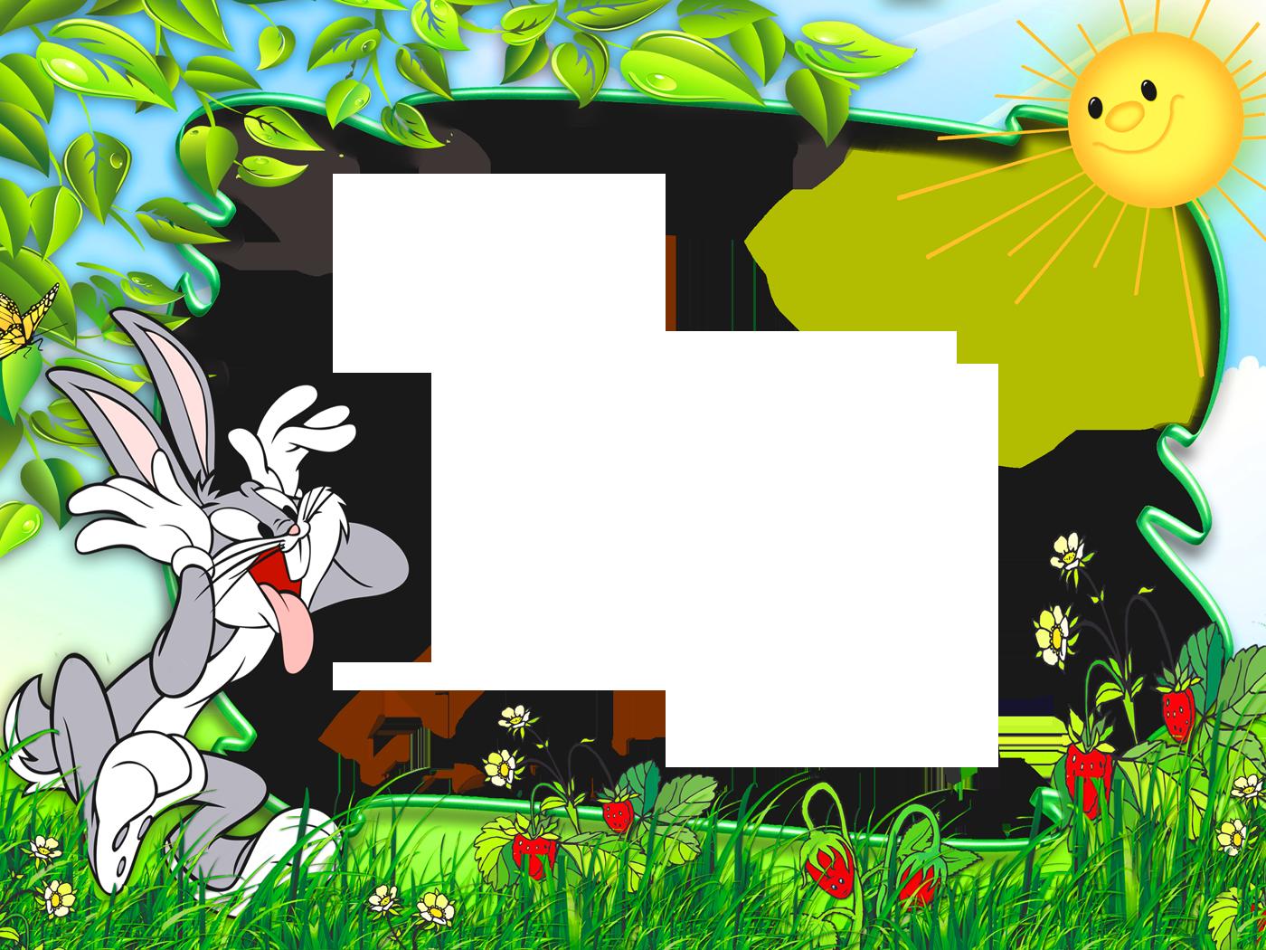 Clipart bunny frame. Funny cute kids transparen