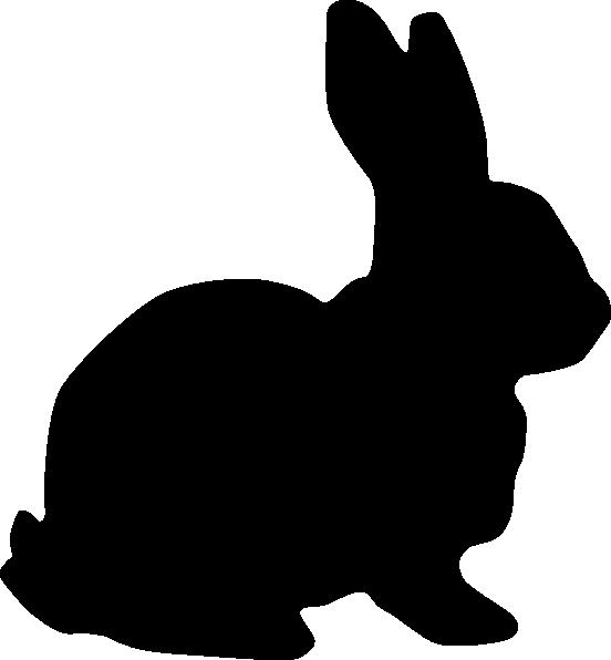 Silhouette clip art at. Clipart bunny gambar
