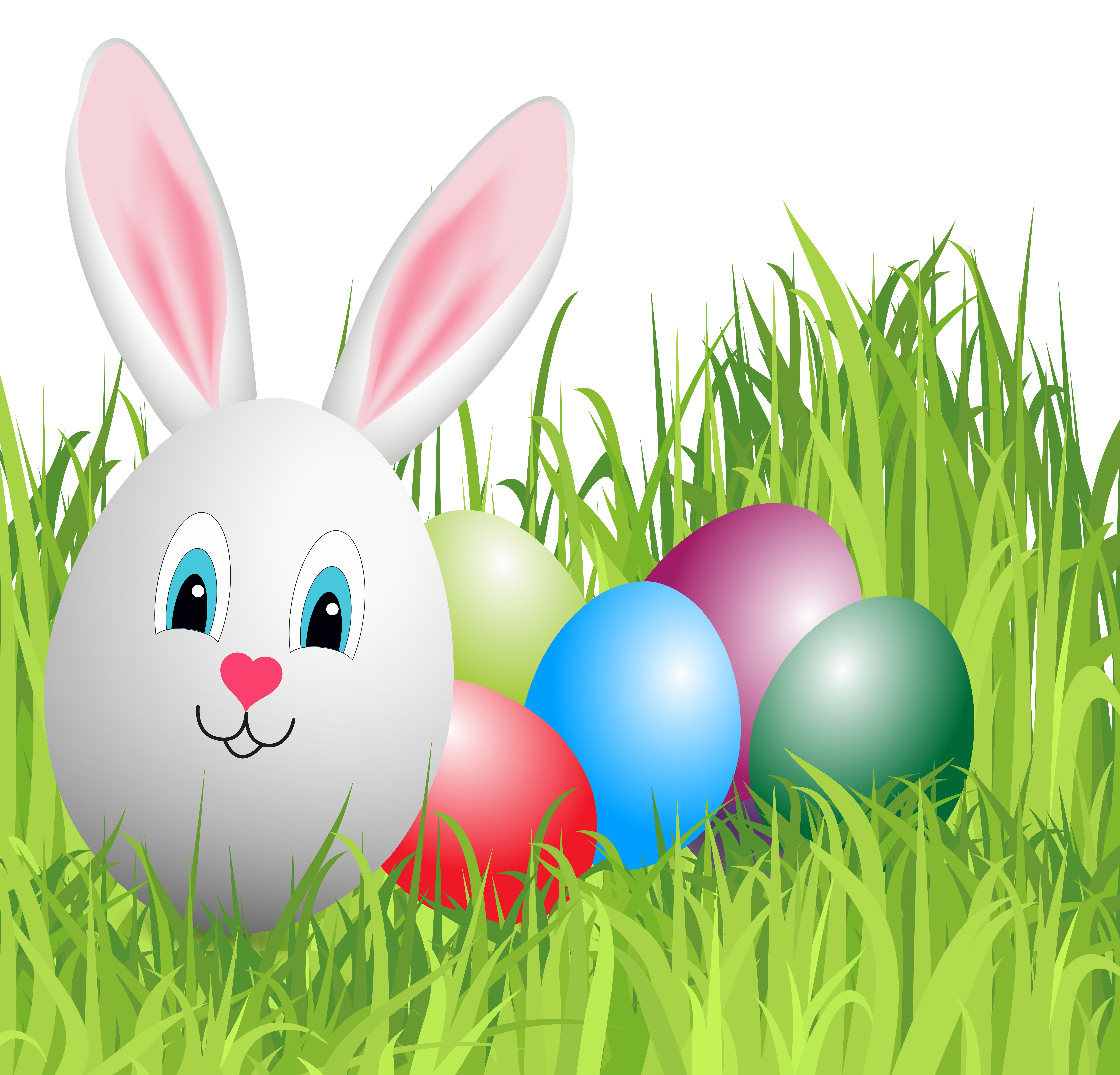 Clipart bunny grass. Easter with egg png