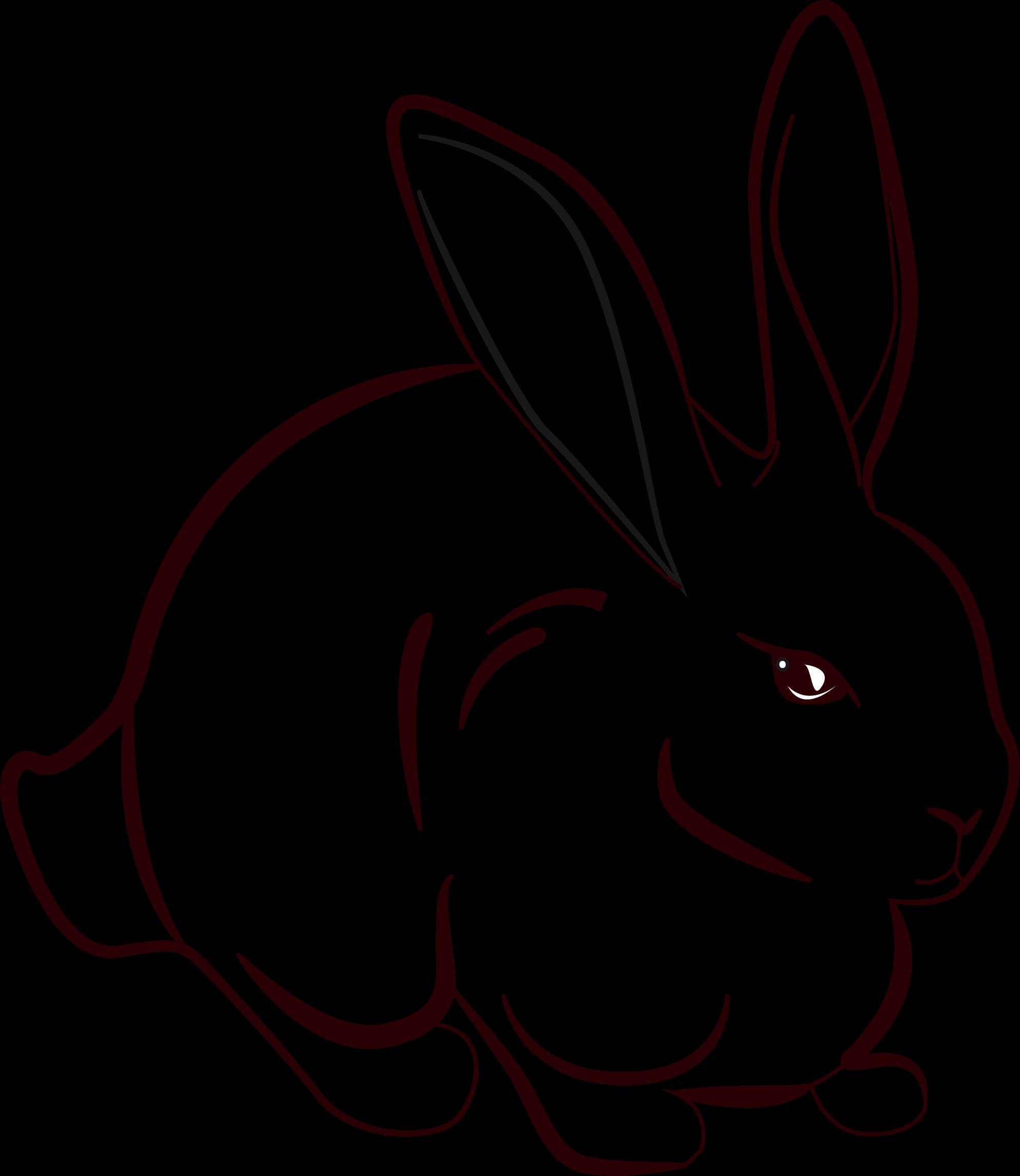 Group. Clipart rabbit line art
