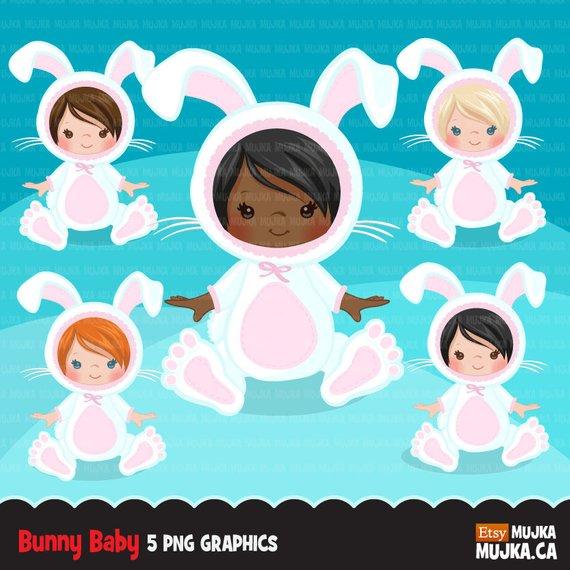 Baby costume shower graphics. Clipart bunny halloween