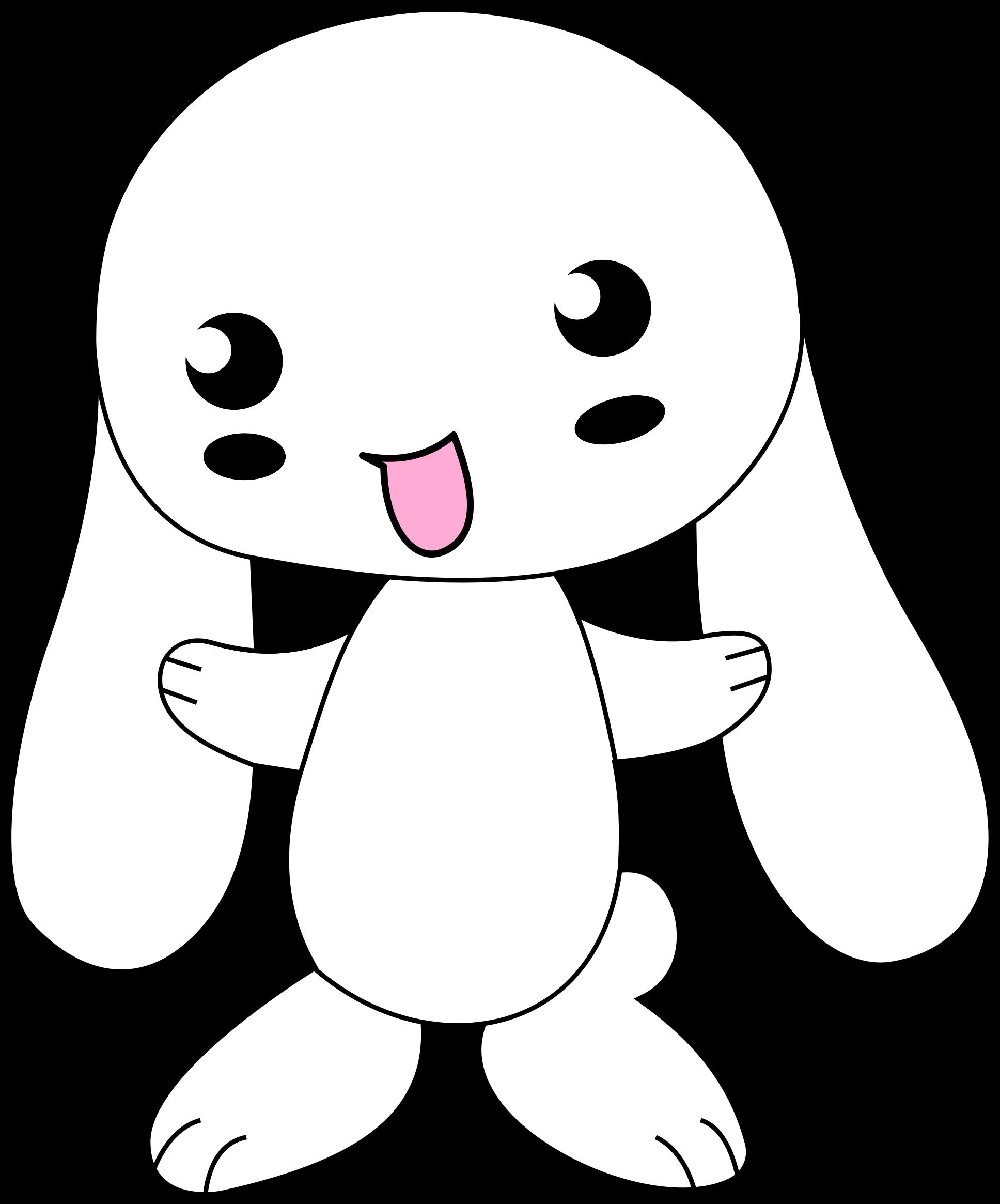 Clipart bunny head. Cute cartoon big image