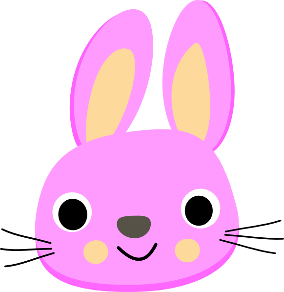 Families clipart bunny. Pink clip art at