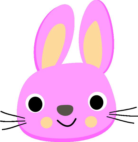 Pink clip art at. Clipart bunny head