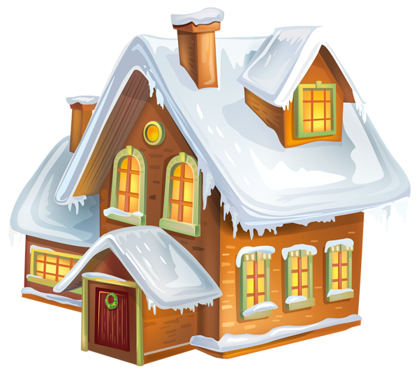 Exercise clipart winter. Christmas house transparent png