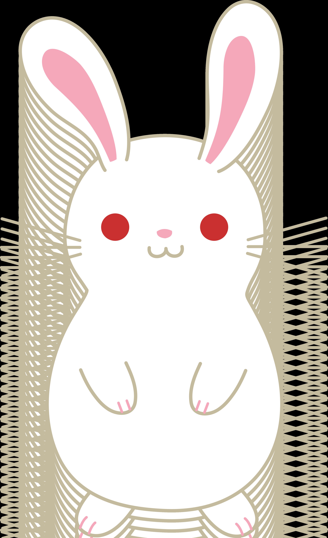 Cute white albino free. Clipart bunny kawaii