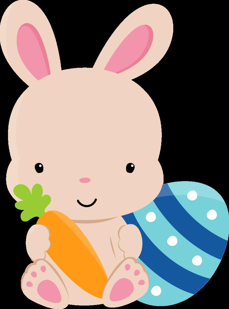 Clipart bunny kawaii. Tubes de p scoa