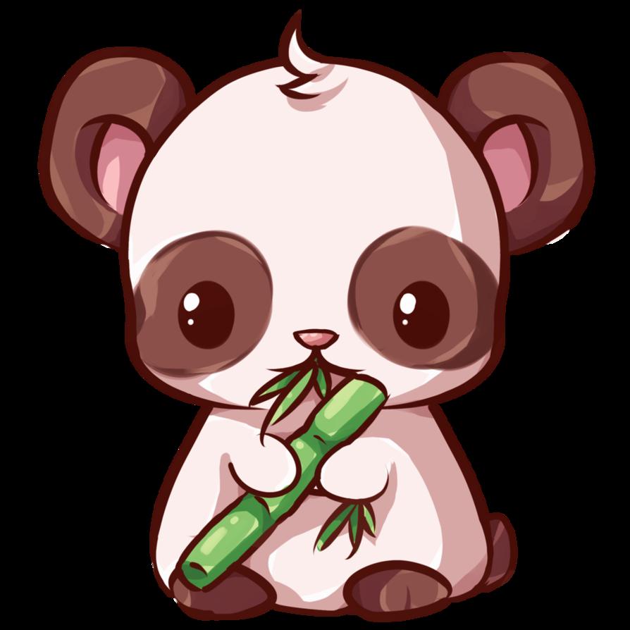 Panda by dessineka fauna. Clipart bunny kawaii