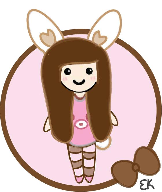 Clipart bunny kawaii. Girl by ellaalovee on