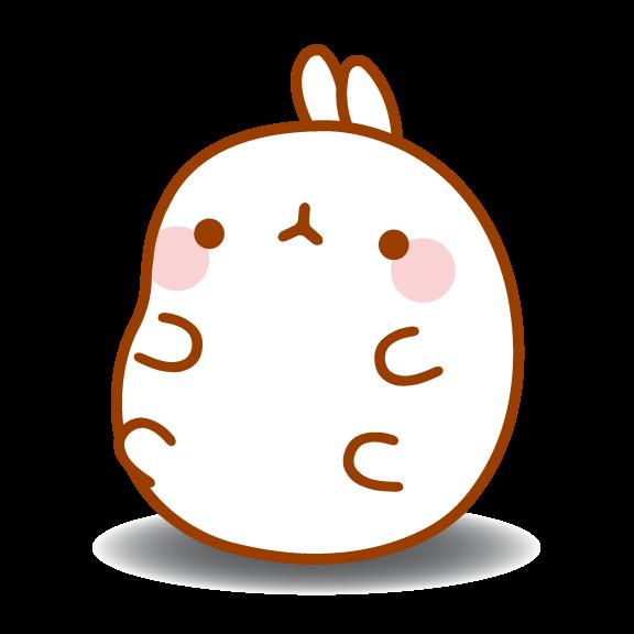 Molang by ak manga. Clipart bunny kawaii