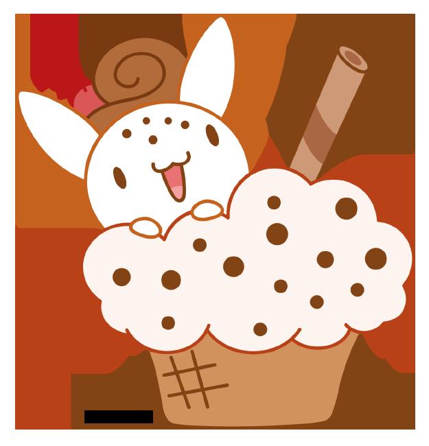 Bunny icecream by daieny. Garden clipart kawaii