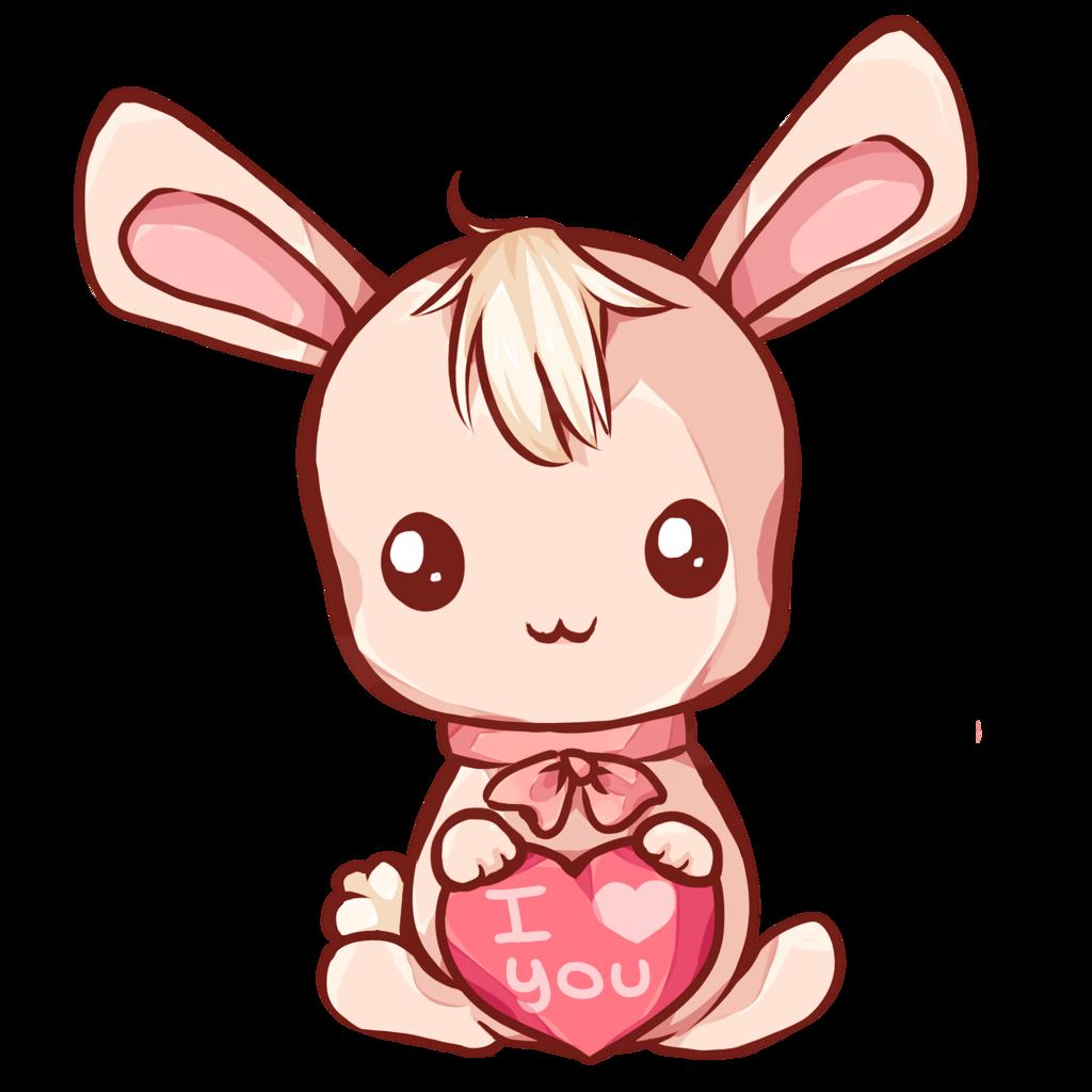 By dessineka on deviantart. Clipart bunny kawaii