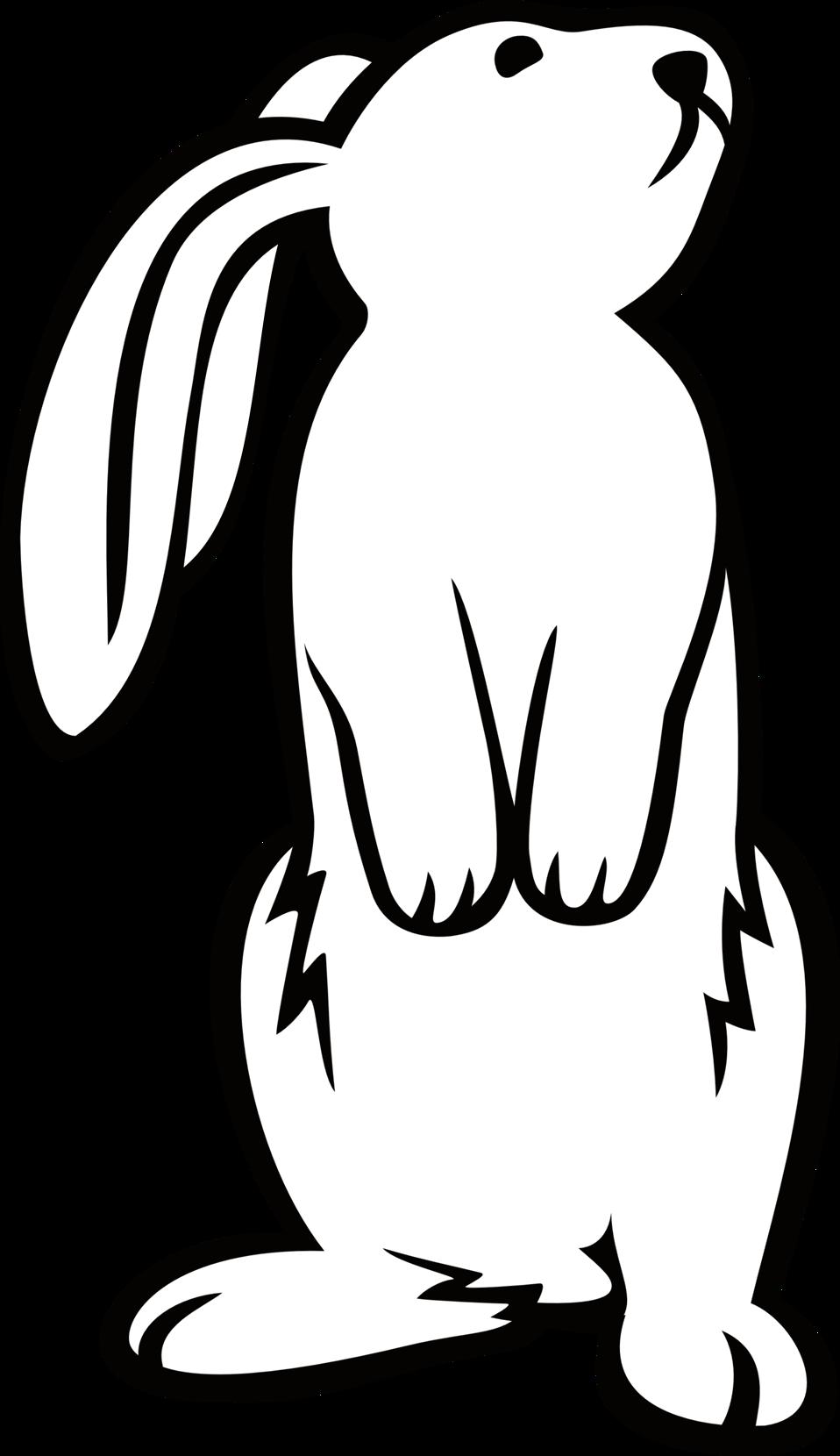 Clipart bunny line art. Public domain clip image