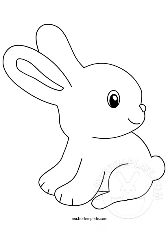 Cute clip image easter. Clipart bunny line art