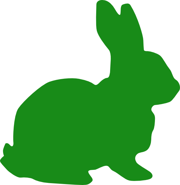 Green silhouette clip art. Clipart bunny marshmallow peep