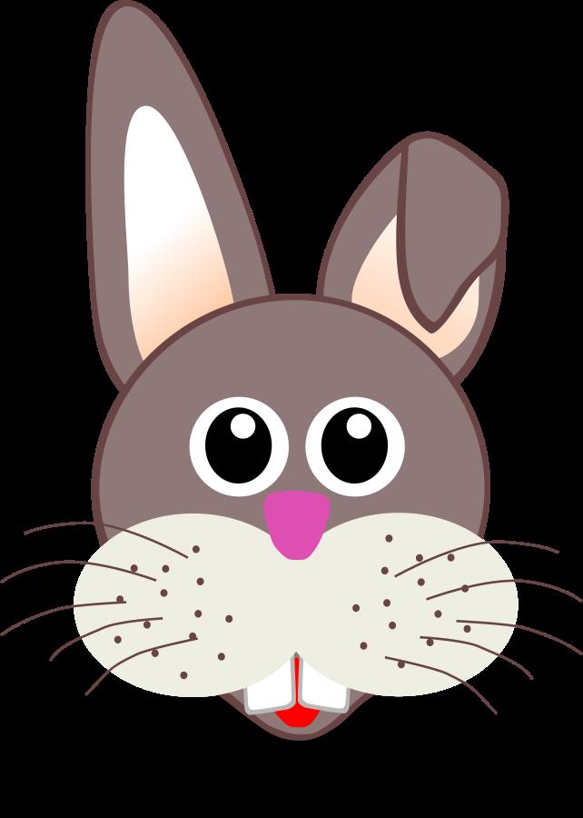 Rabibt vector clip arts. Faces clipart easter bunny