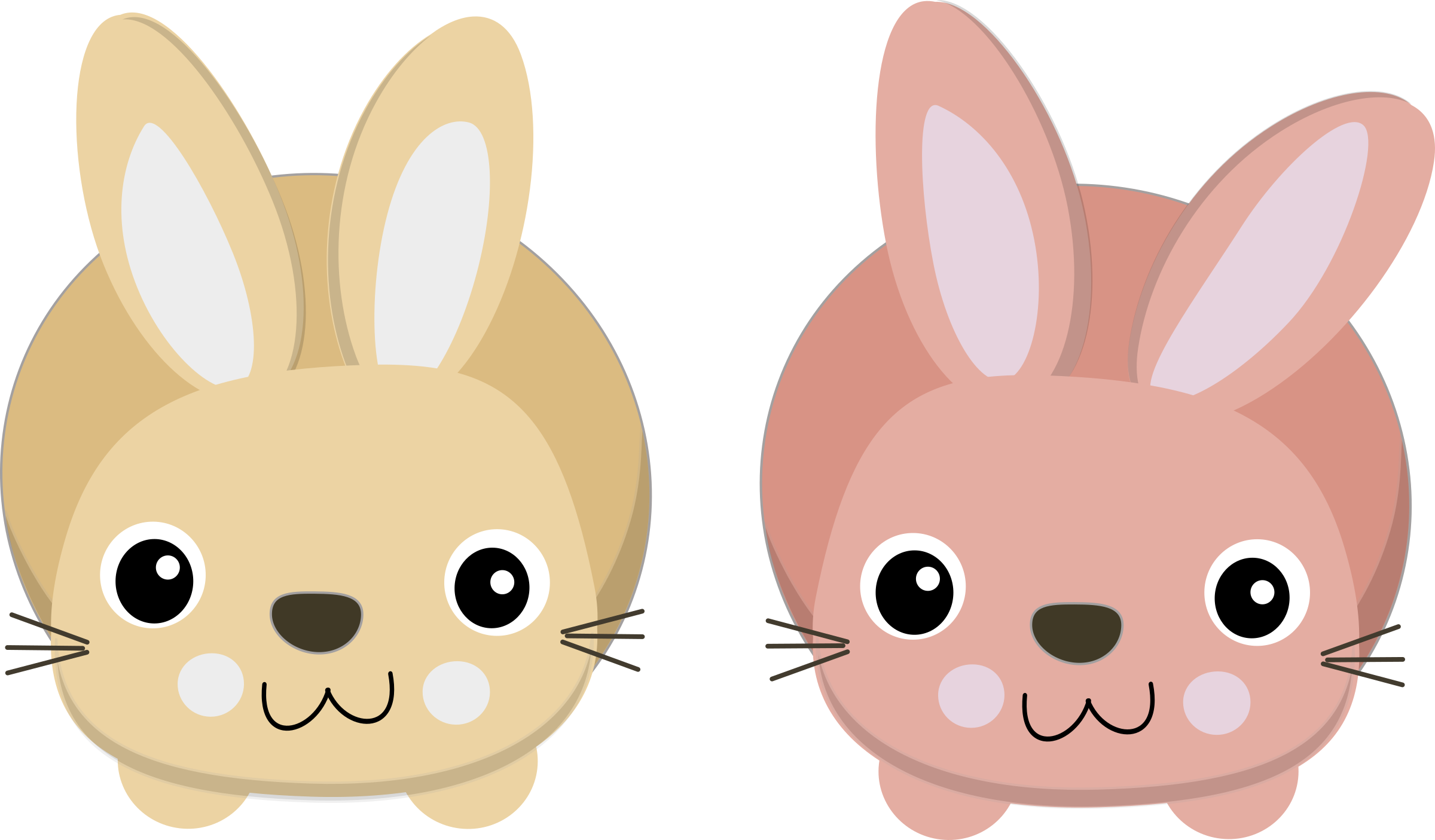 Cute bunnies icons png. Clipart bunny mouth