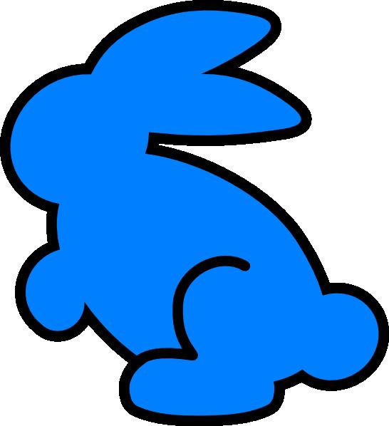 Cyan bunny clip art. Clipart rabbit blue