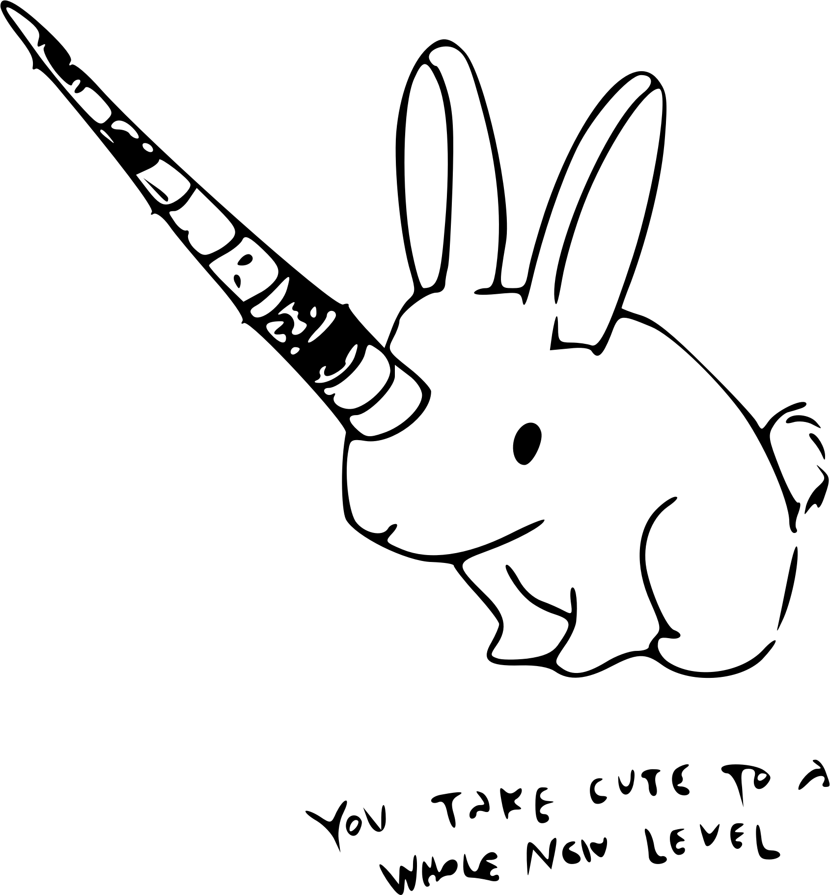clipart unicorn outline