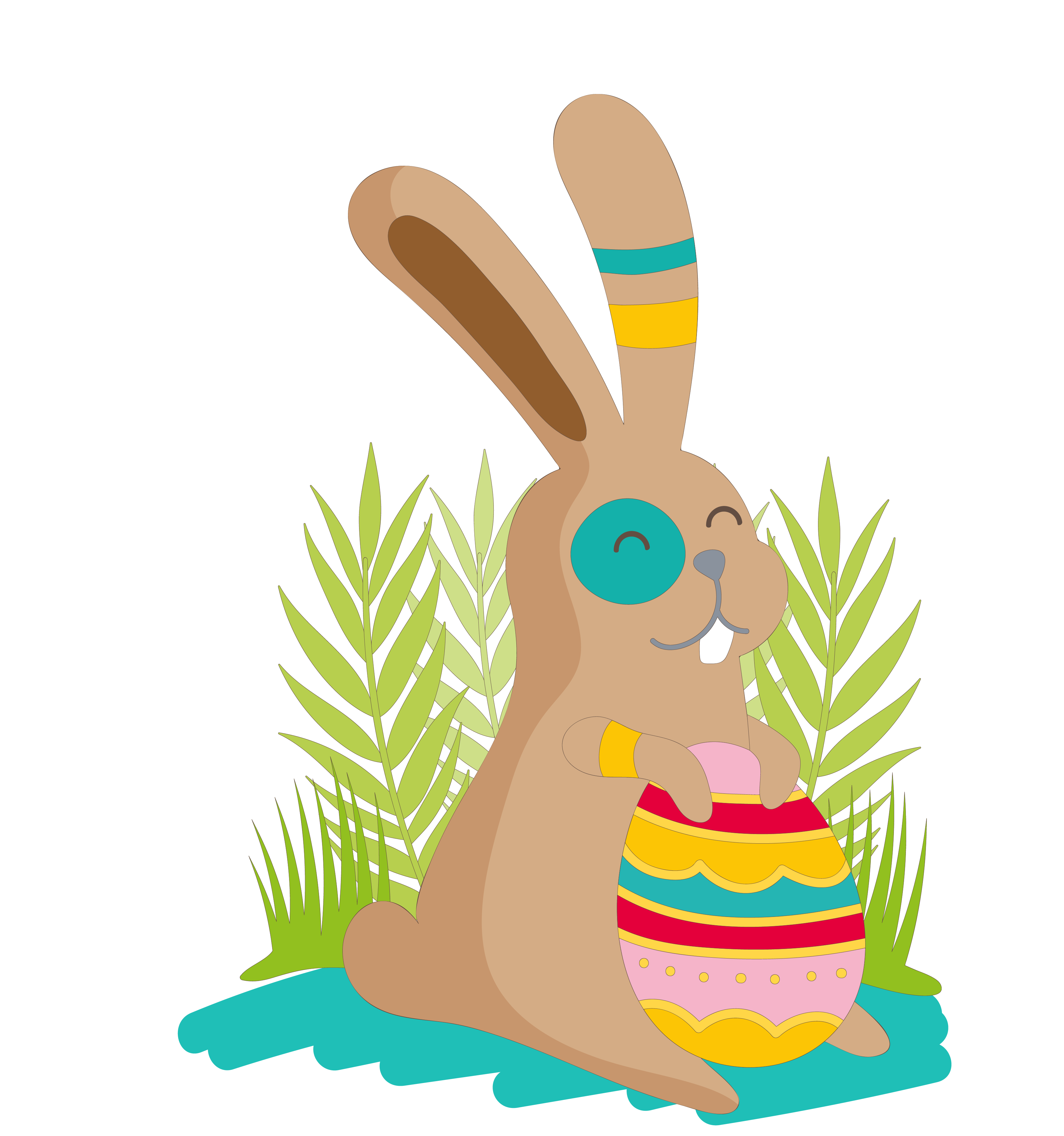 Clipart bunny painted. Easter hare clip art