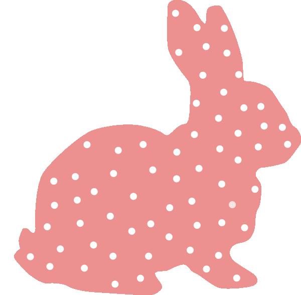Polka dot vector design. Clipart bunny peep
